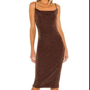 REVOLVE Ira Bodycon midi dress - sparkly